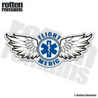 Flight Medic Decal Star of Life Paramedic EMS Helicopter Gloss Sticker HGV