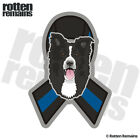 Border Collie Police Sheriff K-9 Blue Line Ribbon Decal Dog Gloss Sticker HGV