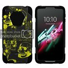 """For Alcatel One Touch Idol 3 (5.5"""") Dual Bumper Case Kickstand Musical Blues"""