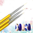 3Pcs/Set Women Nail Art Lines Painting Pen Brush Alloy Manicure Drawing Tools