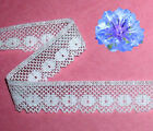 "White Lace Trim 8-16 Yards Cotton 1-1/8"" Crocheted N71BV Added Trims ShipFree"