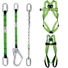 Work at Height Fall Arrest Safety Harness Webbing, Lanyards, Double Carabiners