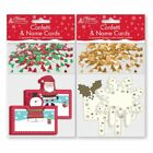 Confetti & Name Cards - Christmas Present Tags Gift Wrapping