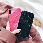 New Fashion Marble For iPhone X Vintage Colorful Granite Texture Phone Case Soft