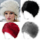Womens Faux Fur Russian Cossack Winter warm Glamorous Cap Ladies Ski Hat YG