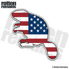 Beaver Decal American Flag Hunting USA Hunter Gloss Sticker (LH) HVG