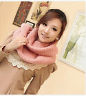 Winter Warm Chunky Knit Infinity Scarf Pullover Headscarf Neckwarmer Hat