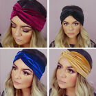Ladies womens winter headband wrap earmuff hair band warm Velvet ski turban