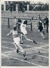 1939 Germany Youth Sport Festival Finish of 100 Meter Race Press Photo