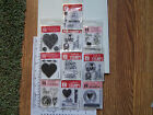 CLEAR STAMPS VALENTINE 'S DAY LOVE WEDDING ANNIVERSARY HEARTS DOILY FLOWERS HUGS