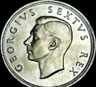 SOUTH FRICA 1952 UNC  5 SHILLINGS ( SILVER CROWN) UNC    A17-620