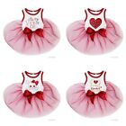 Pets Happy Valentine's Day White Red Tutu Dress Dogs Clothes
