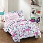NEW Flamingo Pink Twin Full Girls Bedding Set Kids Teen Comforter Sheets