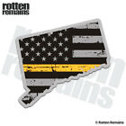 Connecticut State Thin Gold Line Decal CT Subdued Flag Gloss Sticker HVG