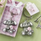 Adorable Baby Elephant w/ Pink Key Chain Baby Girl Shower Favors Lots of 25-144
