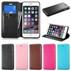 PU Leather Credit Card Holder Wallet Flip Case Cover For Apple Iphone 6 6S Plus