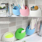 2XHome Bathroom Toothbrush Holder Wall Mount Suction Cup Toothpaste Storage Rack