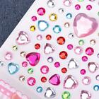 Shape Colors Self-Adhesive Rhinestones & Pearls Stick On Craft GemsRoundHeart SY