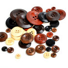100pcs 4 Holes Wood Button 10/12/15/18/20/25/30/38mm Large Size Sewing Craft