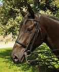 Heritage English Leather Brown Horse or Pony Double Bridle Including Reins