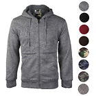 Men's Premium Athletic Soft Sherpa Lined Fleece Zip Up Hoodie Sweater Jacket