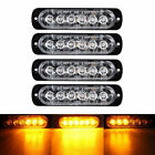 4X 6 LED RECOVERY STROBE AMBER FLASHING LIGHT CREE BREAKDOWN LAMP GRILL 12/24V
