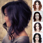 Synthetic Hair Lace Front Wig Short Hair BOB Wave Black Full Wigs For Womens #us