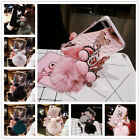 Bewitching Warm Soft Ball Rabbit Plush Bling Shockproof Proves +Metal Ring TPU Cover
