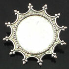 1pc Anti-silver Alloy Cabochon Cameo Setting Brooches Pin Bead Large