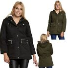WOMEN LADIES GIRLS PARKA HOODED FAUX FUR PLUS SIZE  WINTER MILITARY COAT JACKET