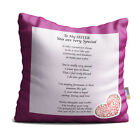 Sister You are Very Special Purple Floral Design Poem Throw Pillow