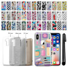 "For Apple iPhone X 5.8"" Slim Sparkling Silver TPU Silicone Case Cover + Pen"