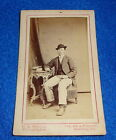 CDV Photograph Reading Pennsylvania Man in Chair Hat & Books