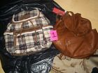 2 BNWT AMERICAN EAGLE BACKPACKS FAUX LEATHER & FLANNEL HOLIDAY SPECIAL!! A MUST!
