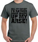 Sell My Guitar Mens Funny Guitarist T-Shirt Bass Electric Acoustic Player Case