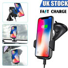 Qi Wireless Car Holder Cradle Mount Fast Charger For Samsung S8 S7 S6 iPhone 8 X