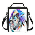 Folk-custom Style Horse Insulated Thermal Cooler Lunch Boxes Bag School Office
