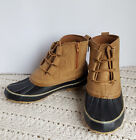 Womens Ethan Shootie Ankle Boots Duck Faux Leather Tan Memory Foam Comfortview