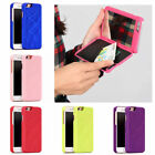 Mirror Case Cover Credit Card Holder For iPhone 7 6 Plus Wallet PU Leather O0103