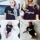 Couple Kids Baby T-Shirt The Original & The Remix - Family Love Matching Tee Top