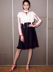 Italy Style Hot 2018  Runway Tie lace Jacket Bouffancy Half skirt fashion Suit