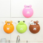 Animal Bear Frog Suckers Toothbrush Holder Wall Bathroom Hanger Mount Suctions