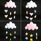 Cloud Love Heart Baby Nursery Mobile Wall Hanging Decor Gift White Pink Canopy
