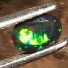 4x6 MM NATURAL ETHIOPIAN FIRE BLACK OPAL FACETED CUT CALIBRATED GEMSTONE H10603
