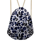 Women Backpack Floral Design Drawstring Purse Fashion Gym Sport Shoulder Bags