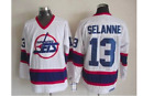 TEEMU SELANNE MENS WHITE NHL RETRO JERSEYS BRAND NEW WINNIPEG JETS