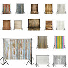 Vintage 5x7ft Vinyl Studio Photography Backdrop Wood Wall Floor Background Prop