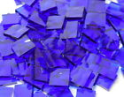Blazing Blue Hammered Hand Cut Stained Glass Mosaic Tiles #124
