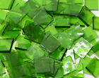 Spring Grass Green English Muffle Hand Cut Stained Glass Mosaic Tiles #550