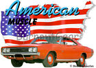 1969 Red Dodge Charger Custom Hot Rod USA T-Shirt 69 Muscle Car Tees $21.99 USD on eBay